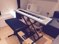 Yamaha NP-30 (NP30) Portable Grand Piano Keyboard incl Travel Case, with Stand, Stool, and Pedal