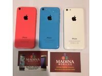APPLE IPHONE 5C UNLOCKED MINT CONDITION COMES WITH WARRANTY & ALL ACCESSORIES