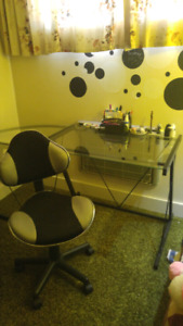 New glass desk