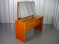 Retro Wooden Stag Dressing Table Vintage Furniture