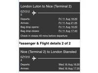 Cheap flight tickets London - Nice ( return) 11-16 August
