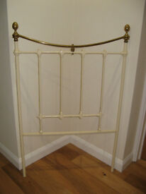 Antique Cream and Brass Headboard