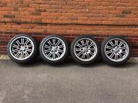 4 x Genuine BMW E46 M3 Alloys with Pilot Super Sport Tyres