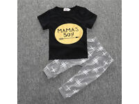 Boys T-shirt & Pants Clothing Set