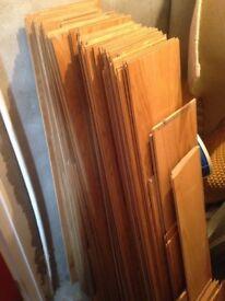 45 pieces of used oak click laminate flooring