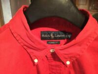 RALPH LAUREN blood red shirt, classic fit size XL. Wardrobe find immaculate, just been washed.