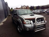 breaking 2004 nissan navara silver double cab 4x4 parts spares 2.5 di yd25