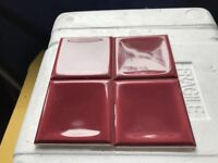 Ceramic Tiles - Crimson Blush