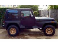 Jeep Wrangler renegade YJ 4.0 auto LHD rare