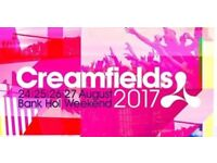 Creamfields x2 standard 4day camping tickets