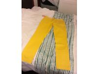 Superdry Commodity slim chinos men's large size yellow