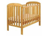 East coast Wooden Cot with Waterproof Mattress
