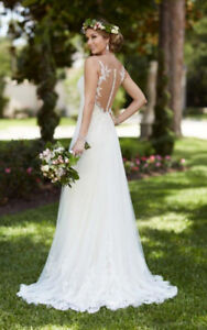 AMAZING DEAL!! Illusion lace French tulle wedding dress sale!!
