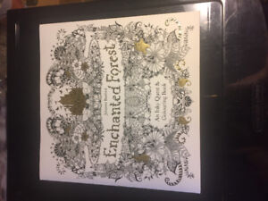 Practically NEW Enchanted Forest Adult Colouring Book