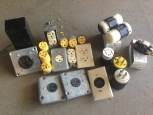 New & used electrical: plugs & switches, cord ends, boxes, etc