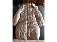 Girls Mayoral beige winter coat age 5