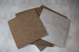 CARPET TILES - 500MM X 500MM X 5MM - APPROX 120 FOR SALE - £40