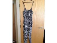 Brand New Size 10 or 12, Black and white jumpsuit