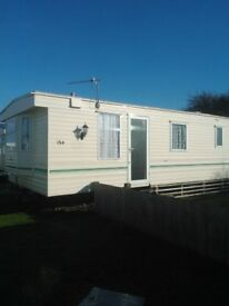 6 Birth caravan to hire Marine park Rhyl £60 per night min 3 nights just been reupholstered