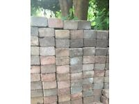 Tumble Paving Blocks - Patio / Driveway - 140mm x 140mm - mixed colours