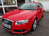 2008 Audi A4 2.0 TDI 170 S Line * Brilliant Red * 6 Speed * FSH