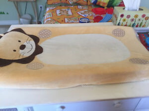 Baby change pad with lion cover + feeding pillow+ wipe warmer