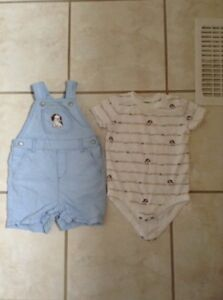 Cute Gymboree Shortall and Onesie Size 12-18 months