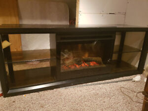 Fireplace t.v. stand