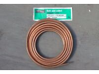 """COPPER TUBE SOFT & COILED 25ft x 3/8"""" OD x 20gauge (7.62m x 10mm)"""