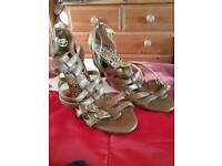 Ladies gladiator style fawn leather sandals size 7