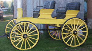 new hand crafted democrate 2 seat buggy