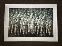 STAR WARS storm trooper, liquid art with SWAROVSKI crystal (BRAND NEW)