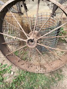 100 year old steel wheel
