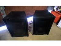 DISCO SPEAKERS OR BAND/SINGER SPEAKERS CABINETS