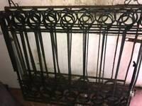 Four driveway metal gates