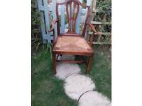 Antique rush chair