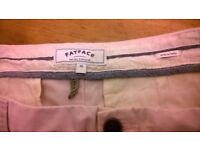 Fat Face cropped trousers size 10 pale sand