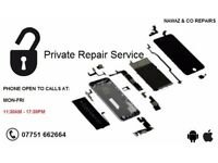iPhone Private Repair Service: Apple iPhone 3/3GS/4/4S/5/5S/6/6S/6+/6S+ And Android (VARIES)