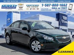 2014 Chevrolet Cruze **Low kms!  Remote Start!**