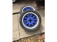 "15"" alloy wheels with great tyres."