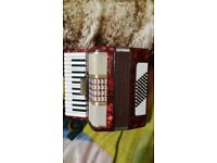 accordion ****galotta*****48 bass good play**made in germany***no case;;;;;;