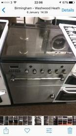 Stainless steel leisure 55cm gas cooker grill & oven good condition with guarantee