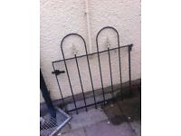 2 Wrought iron fences and gate