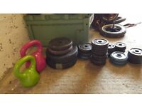 60kg of various weights