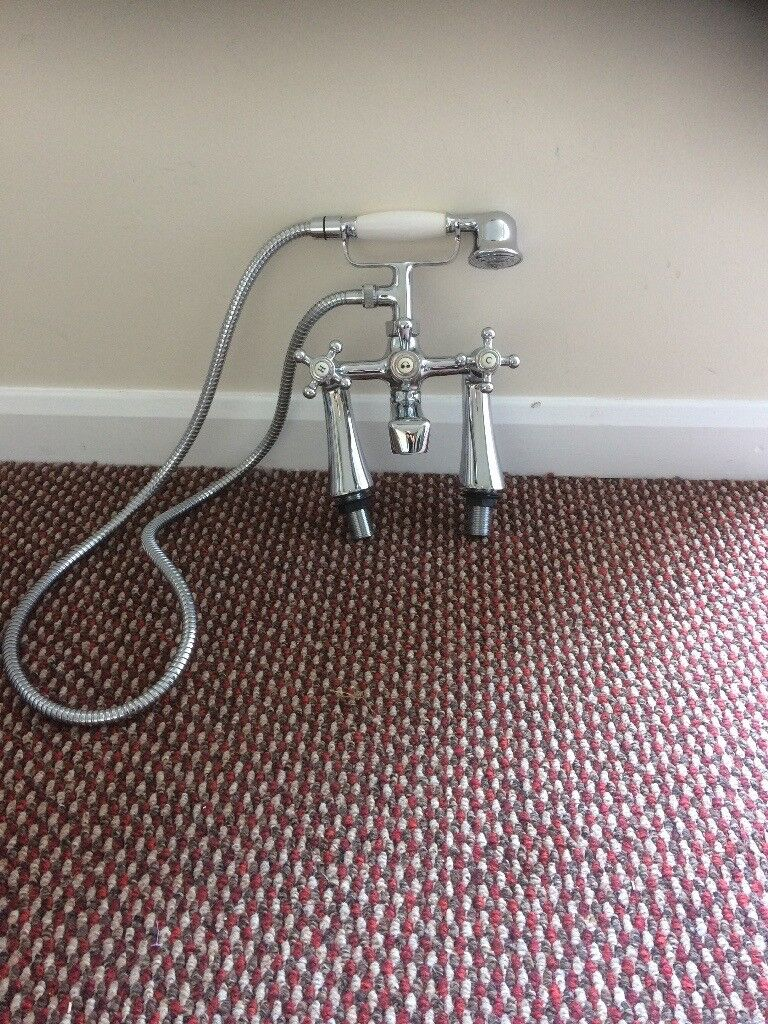 Bath mixer tap with telephone shower head | in Newcastle, Tyne and ...