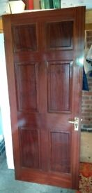 External Hard Wood Panelled Door
