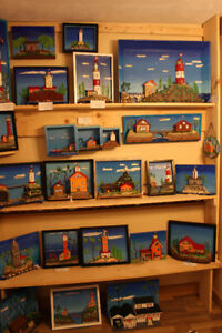 Folk art on display at the Moncton Library