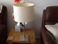 Rise and Fall IKEA Lamp with White Shade