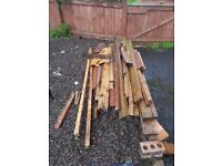 FREE WOOD - REMNANTS OF TWO GARDEN SHEDS - UPLIFT FROM UDDINGSTON AREA