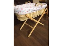 Clair De Lune Moses Baby Basket USED